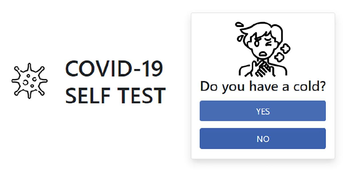 Coronavirus self-test tool